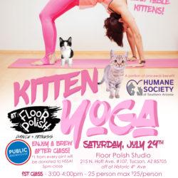 Kitten Yoga at Floor Polish Dance Studio