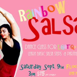 Rainbow Salsa dance class for lgbtq partners at Floor Polish Studio in Tucson
